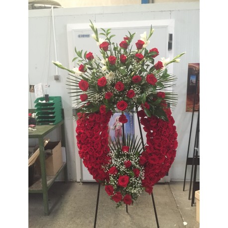 Corona de rosas modelo 2